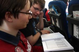 wichtige DSA-Besprechung im Flieger
