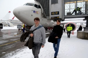 Ankunft in Oslo. Wenig Schnee. Aber SCHNEEE!!