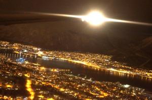 Anflug auf Tromsø - oder zumindest das was ich davon fotografiert bekommen habe