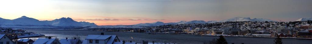 wunderschönes Panorama einer wunderschönen Stadt in wunderschönem Licht