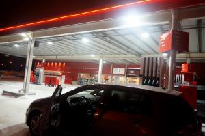 Tankstelle in Kiruna